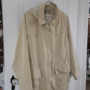 Womans XL Croft&Barrow all weather coat with hood